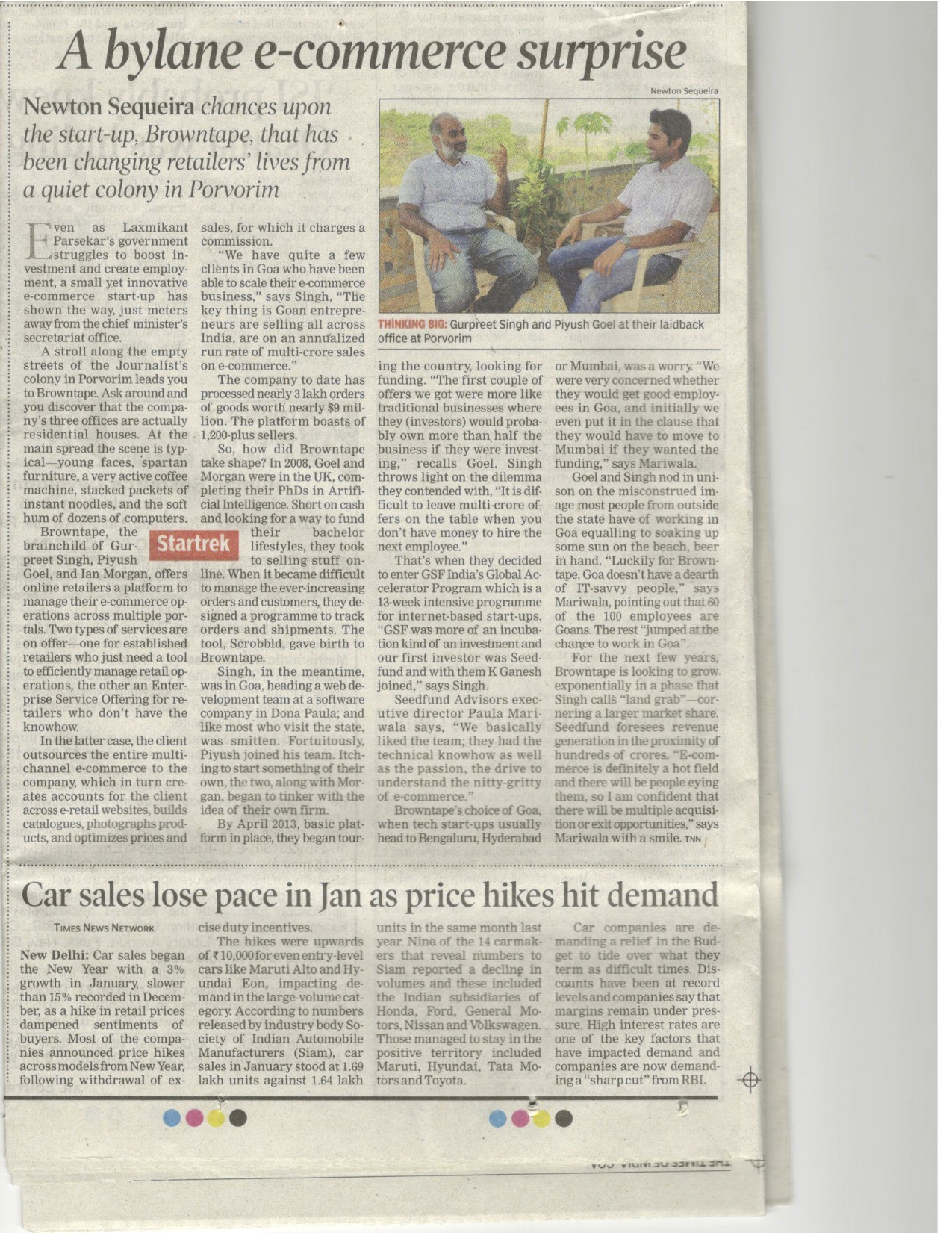 The Times of India - When Small is Big | July, 2012
